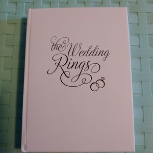 Wedding ring book to hold wedding rings